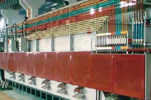 电加热网带式渗碳(碳氮共渗) 淬火 回火自动连续式生产线